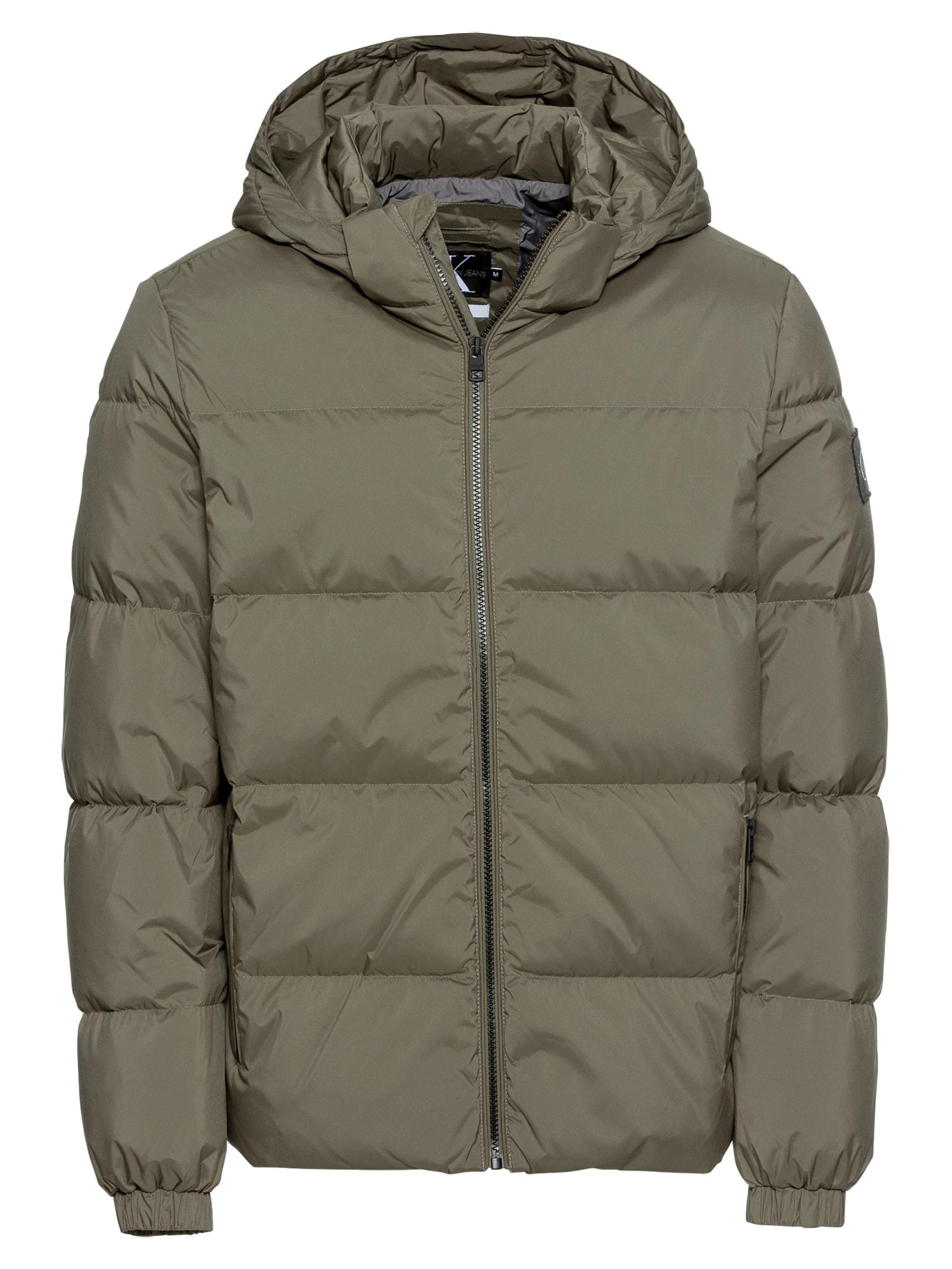Zimní bunda tmavě zelená Calvin Klein Jeans