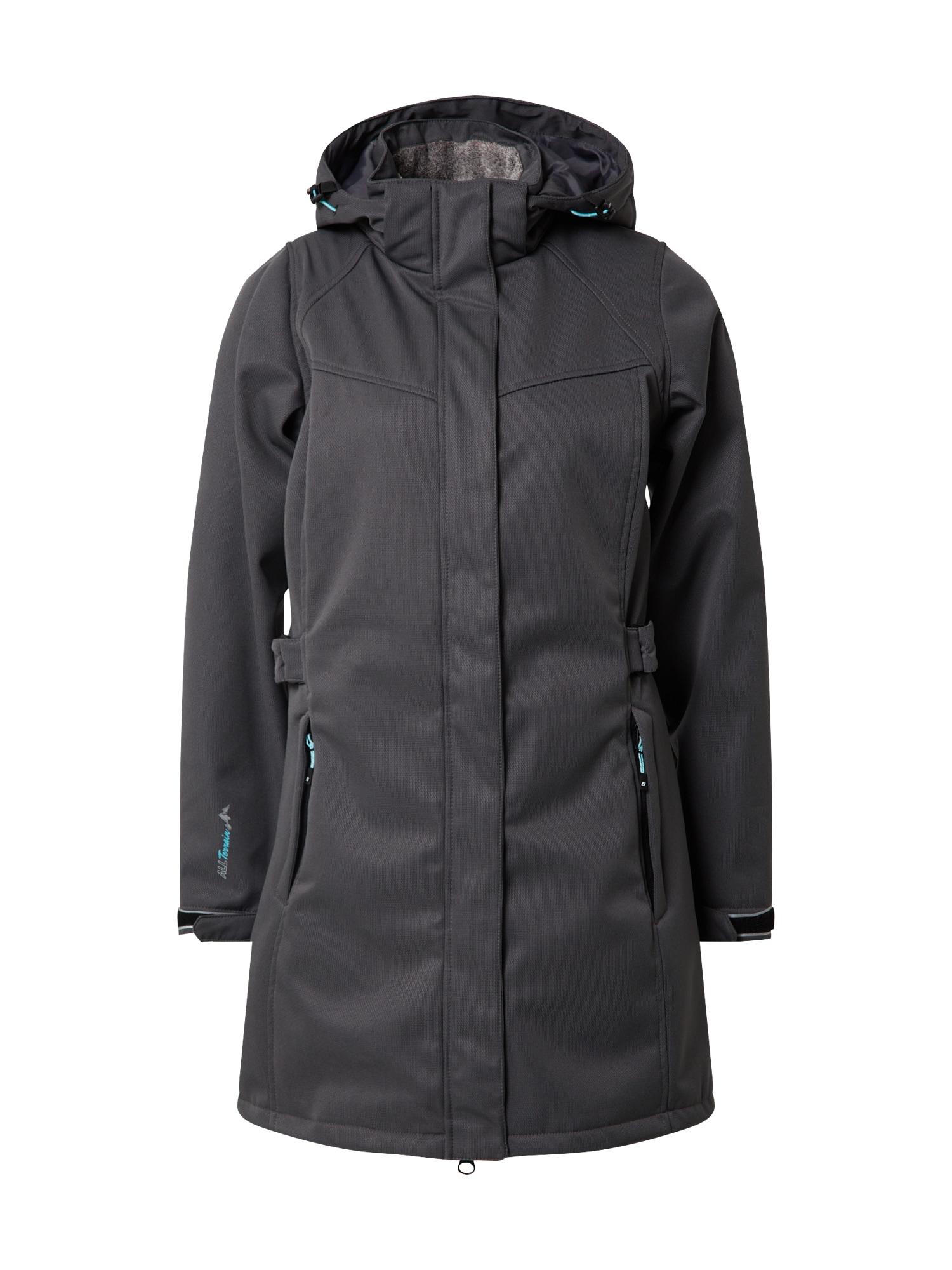 KILLTEC Outdoorový kabát 'Närke'  antracitová