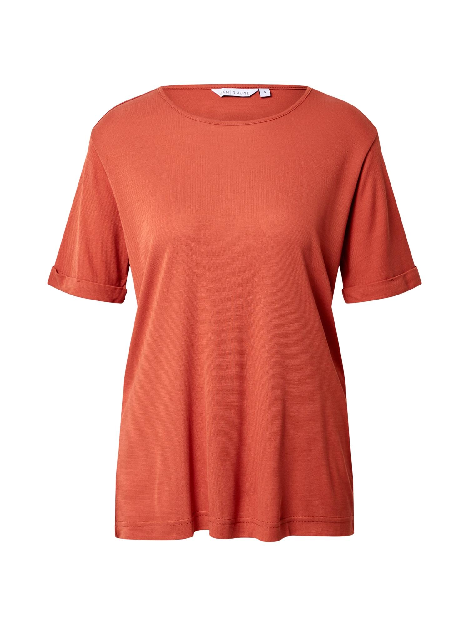 JAN 'N JUNE Tričko 'BOY'  hrdzavo červená