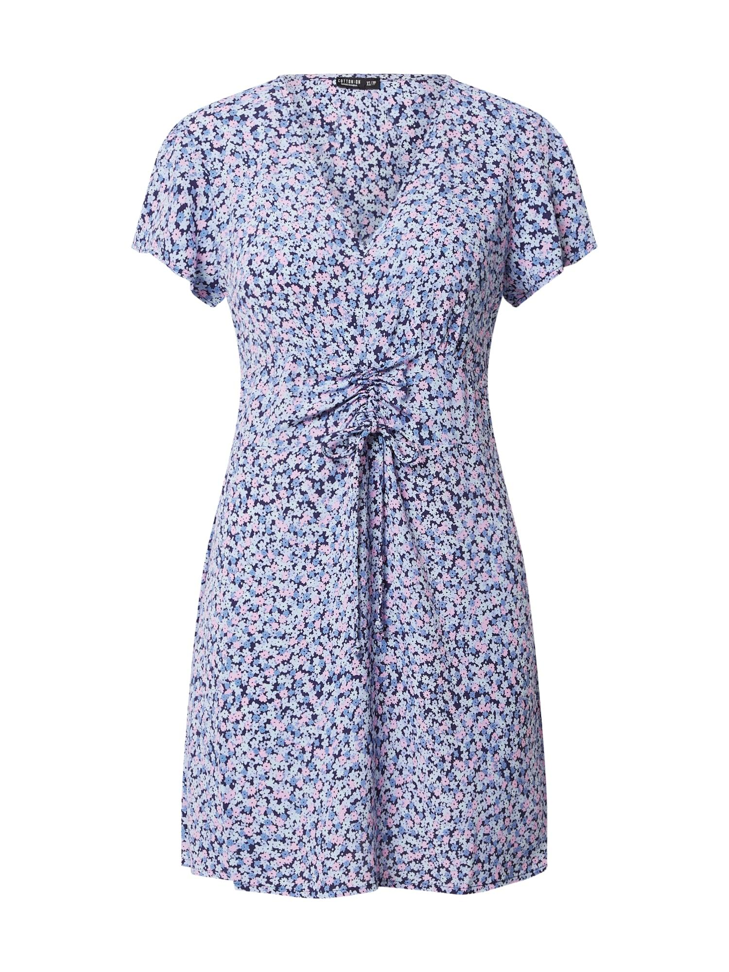 Cotton On Letné šaty 'WOVEN MARISSA'  modré / zmiešané farby