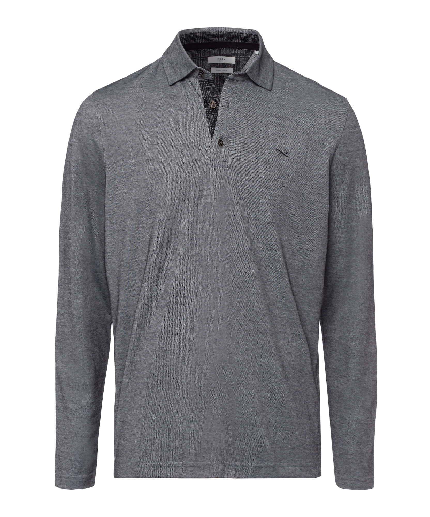 BRAX Marškinėliai 'Style Prescot' margai pilka / juoda