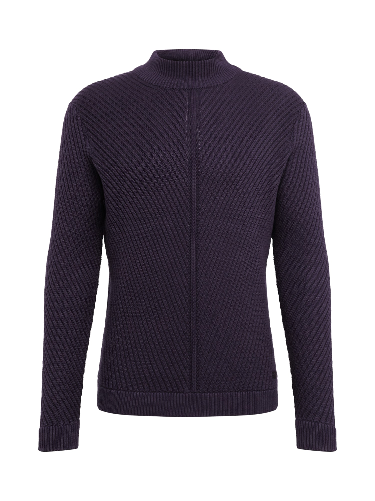 Only & Sons Megztinis 'ONSROLAND 7 STRUCTURE HIGH NECK KNIT' tamsiai mėlyna