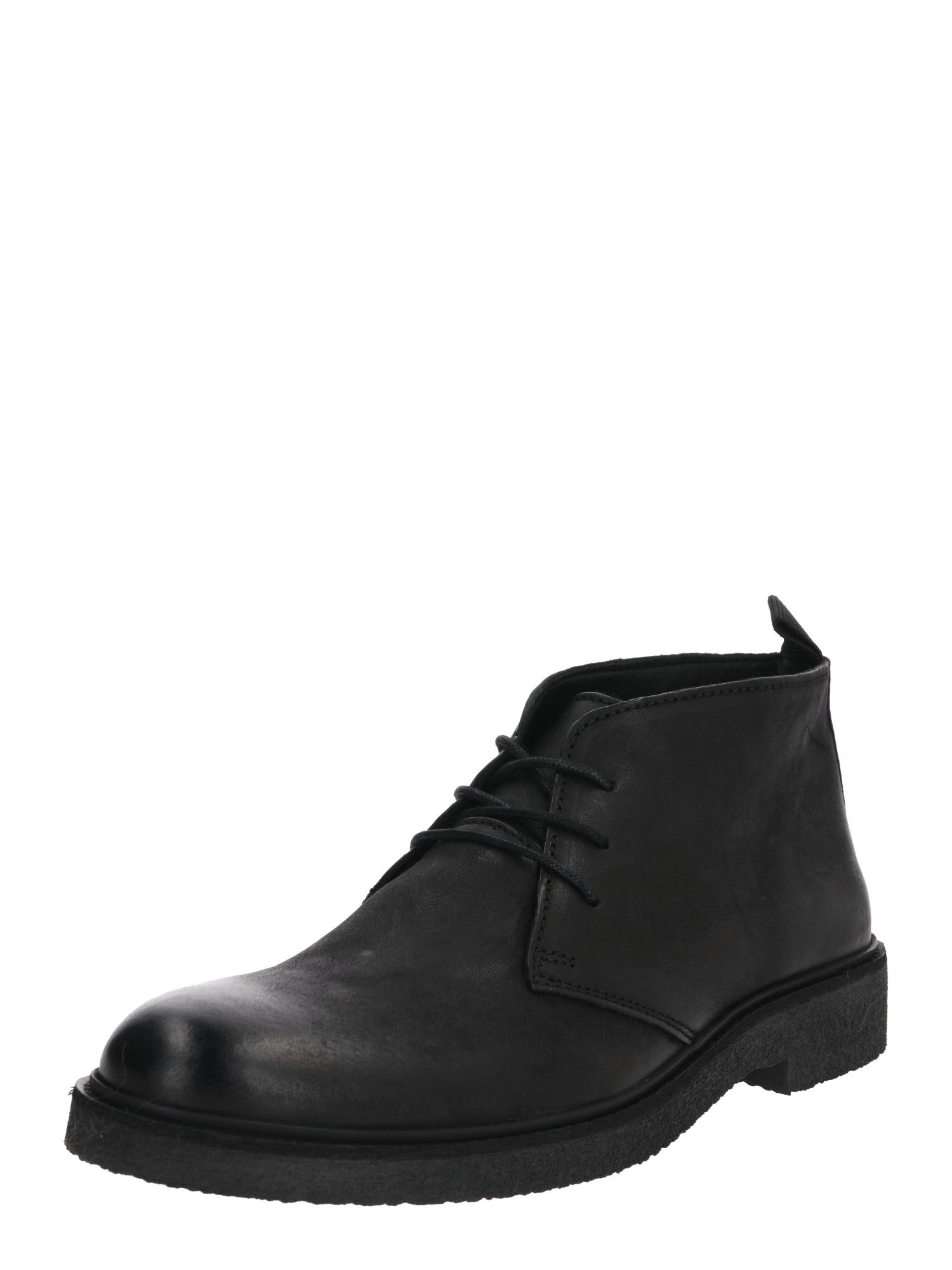 ABOUT YOU Auliniai batai su raišteliais 'Bruno' juoda