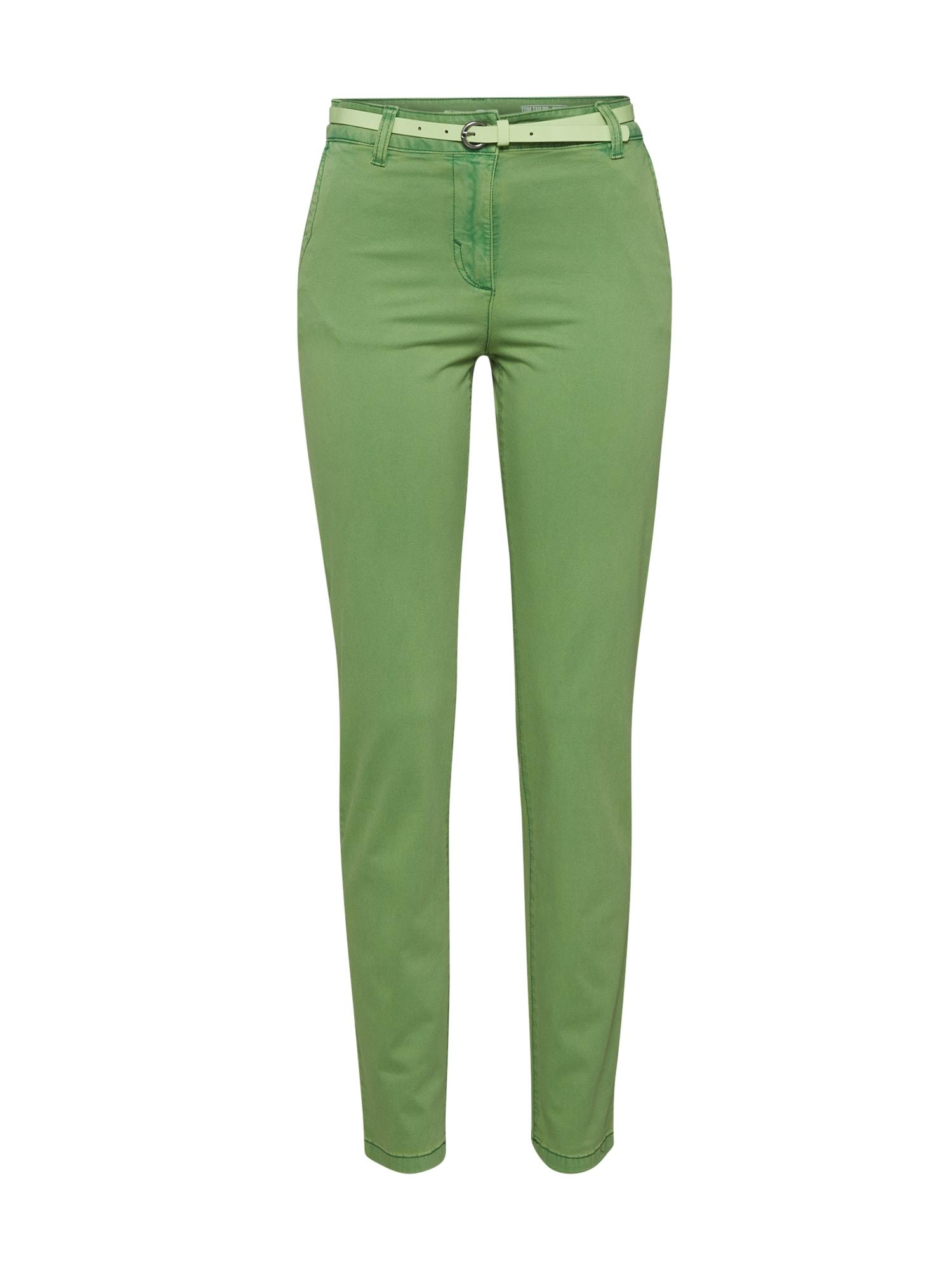 """TOM TAILOR """"Chino"""" stiliaus kelnės žalia"""