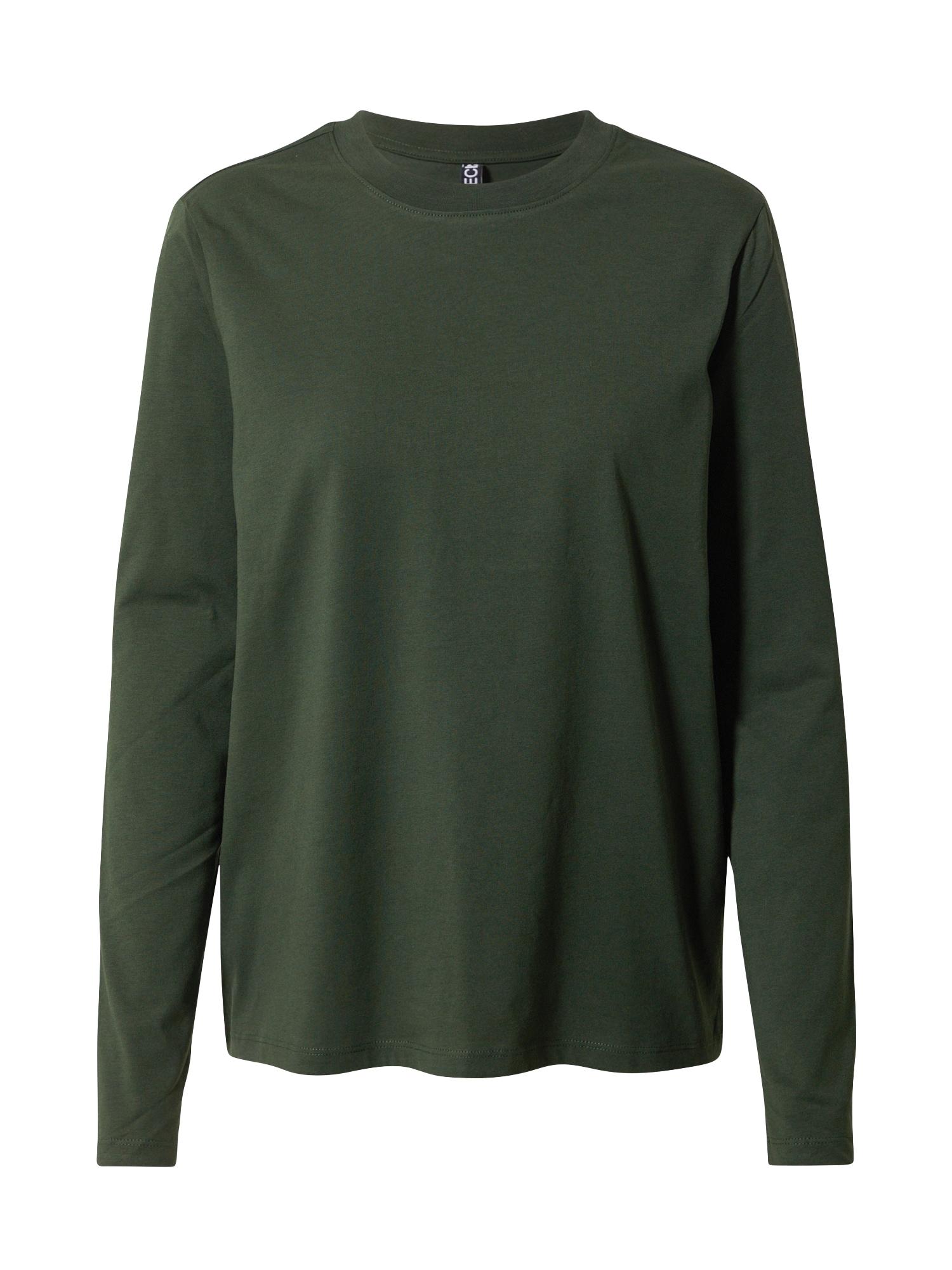 PIECES Tričko 'Ria'  tmavě zelená
