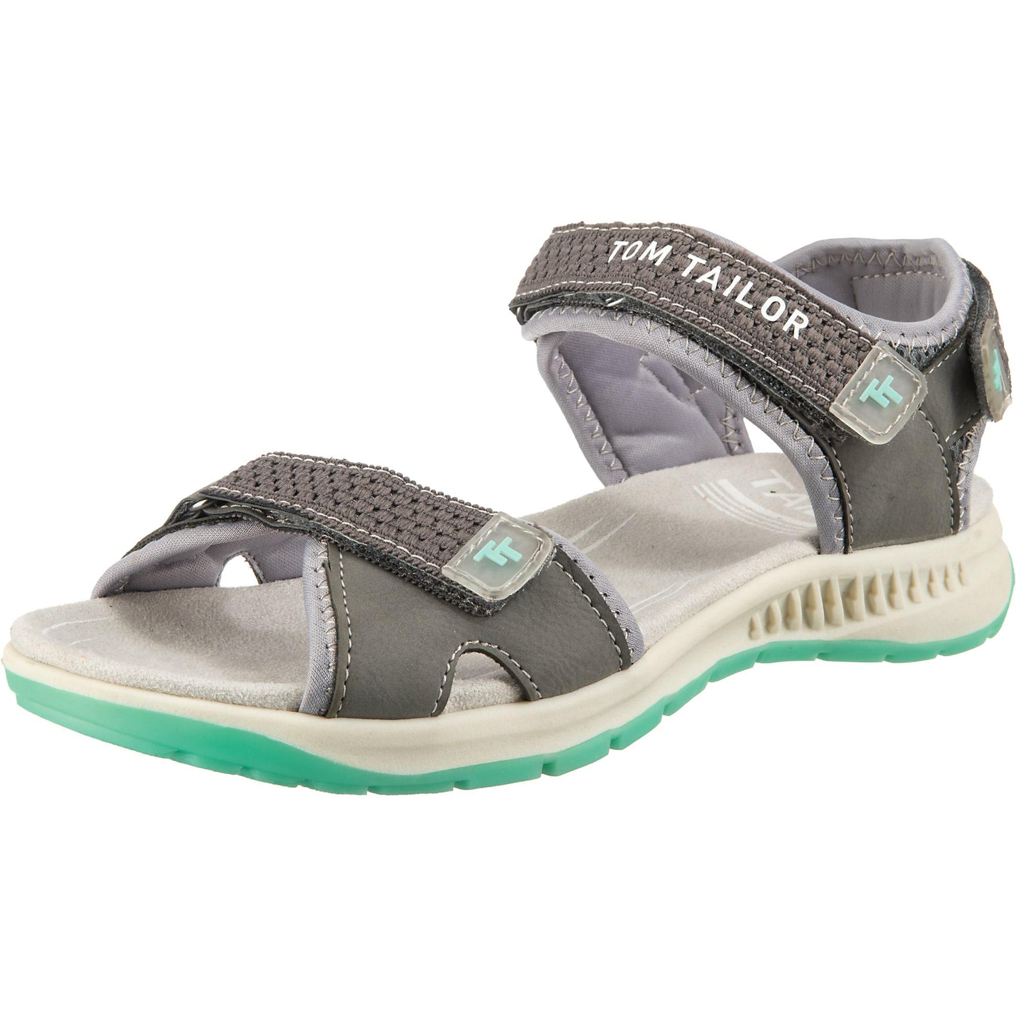TOM TAILOR Sportinio tipo sandalai akmens / smėlio / mėtų spalva
