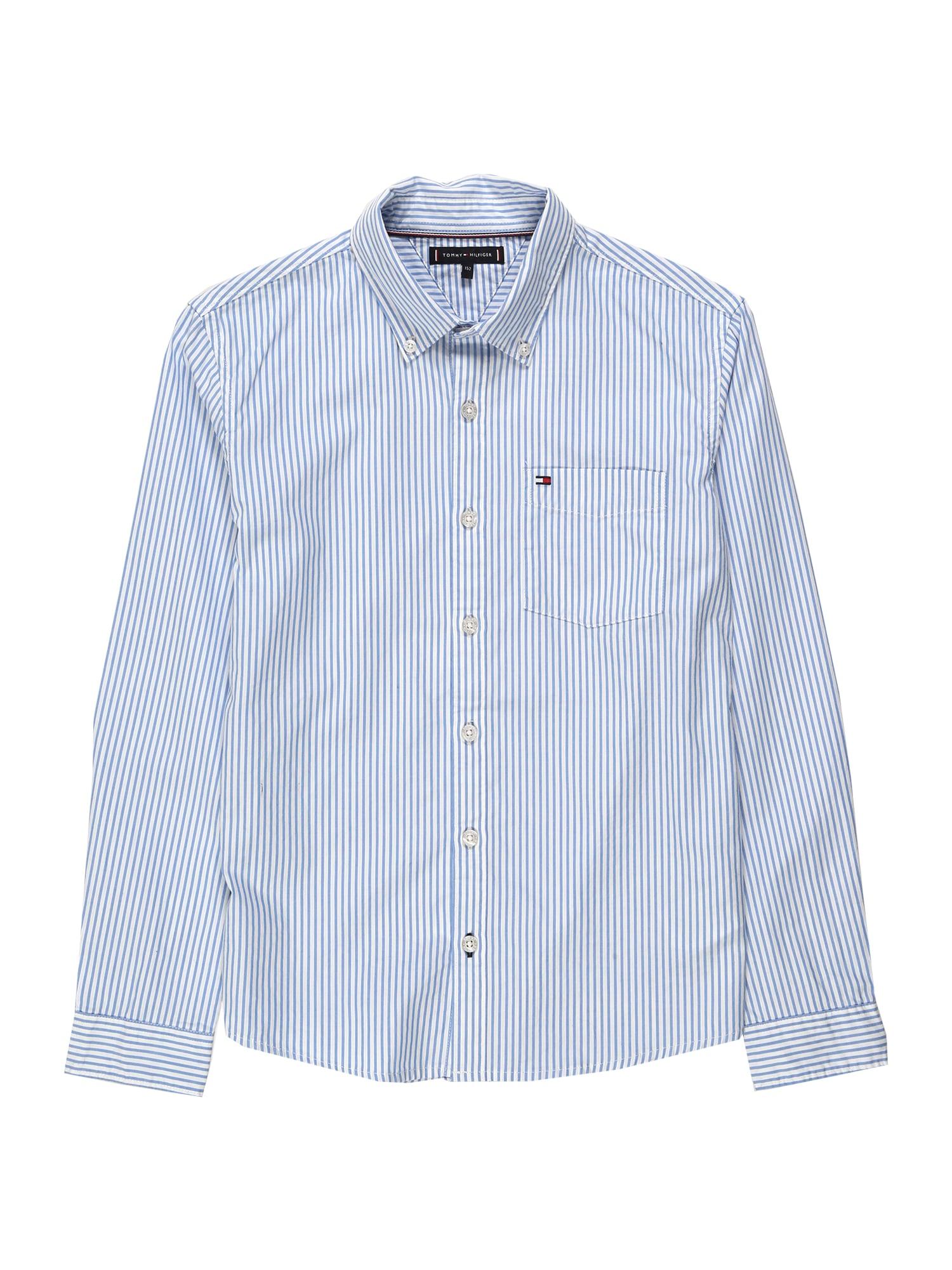 TOMMY HILFIGER Dalykiniai marškiniai balta / opalo