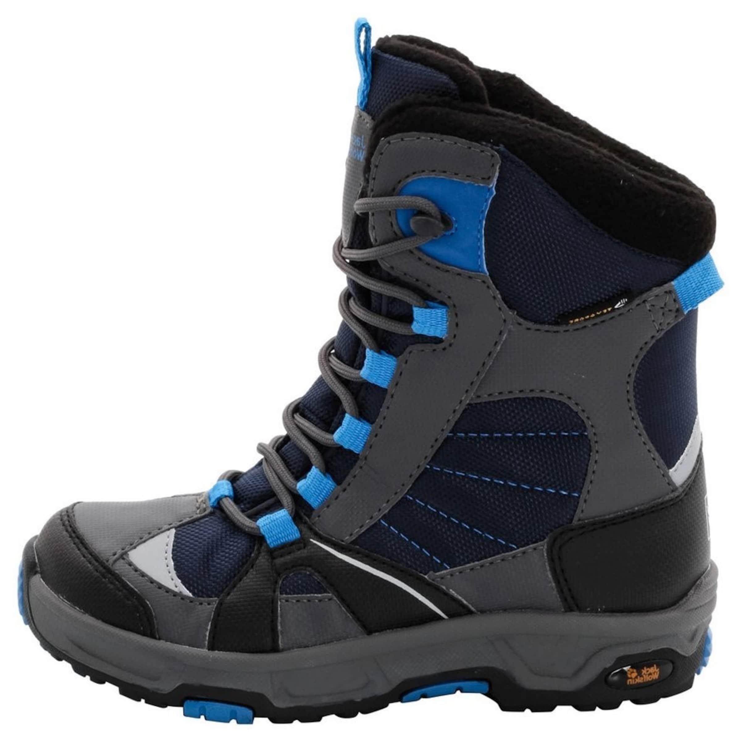JACK WOLFSKIN Kinder,Jungen Winterstiefel BOYS SNOW RIDE TEXAPORE blau,schwarz | 04055001226801