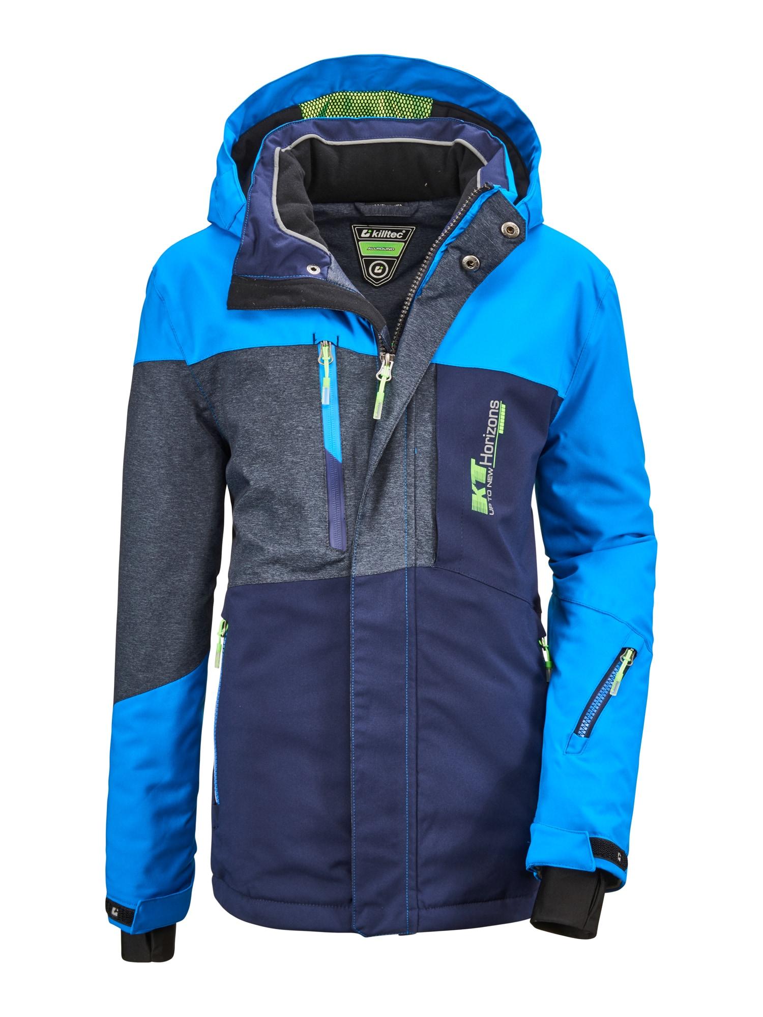 KILLTEC Sportovní bunda 'Glenshee'  tmavě modrá / nebeská modř / šedý melír