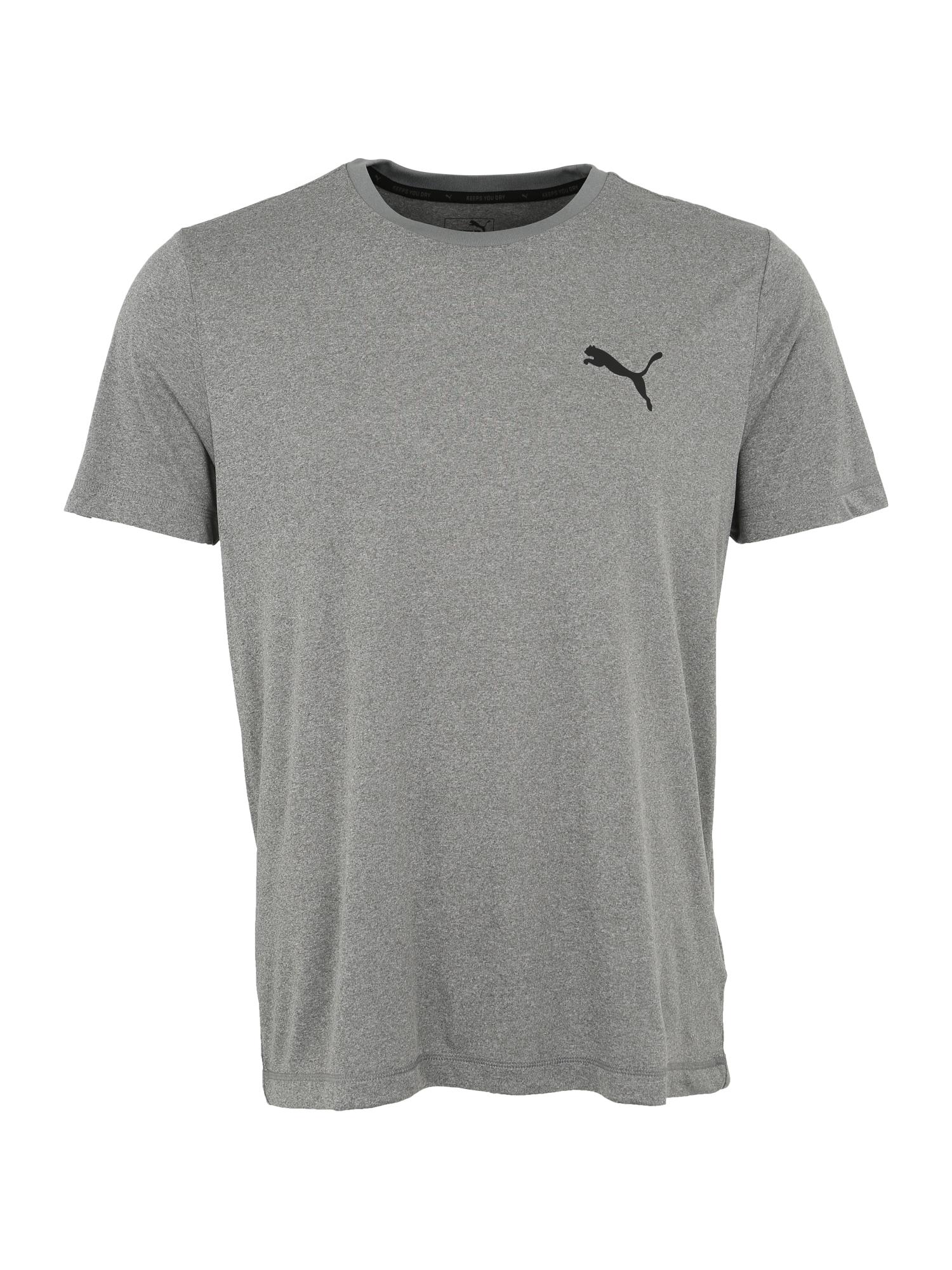 PUMA Funkčné tričko 'Ess Active'  sivá / čierna