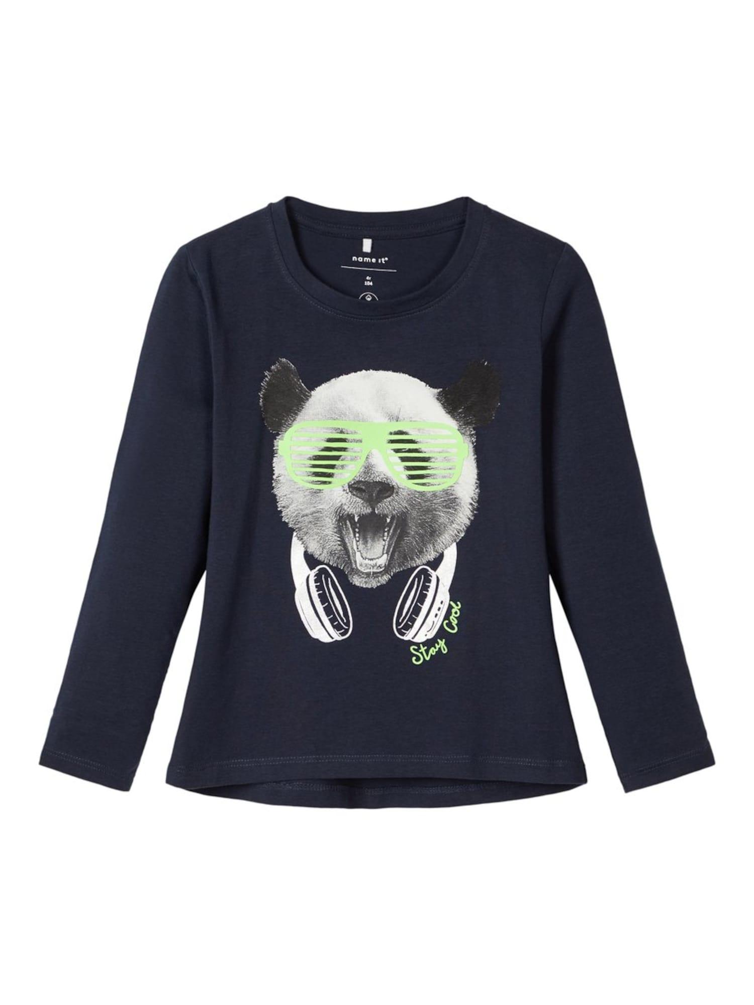NAME IT Marškinėliai balta / nakties mėlyna / neoninė žalia / juoda