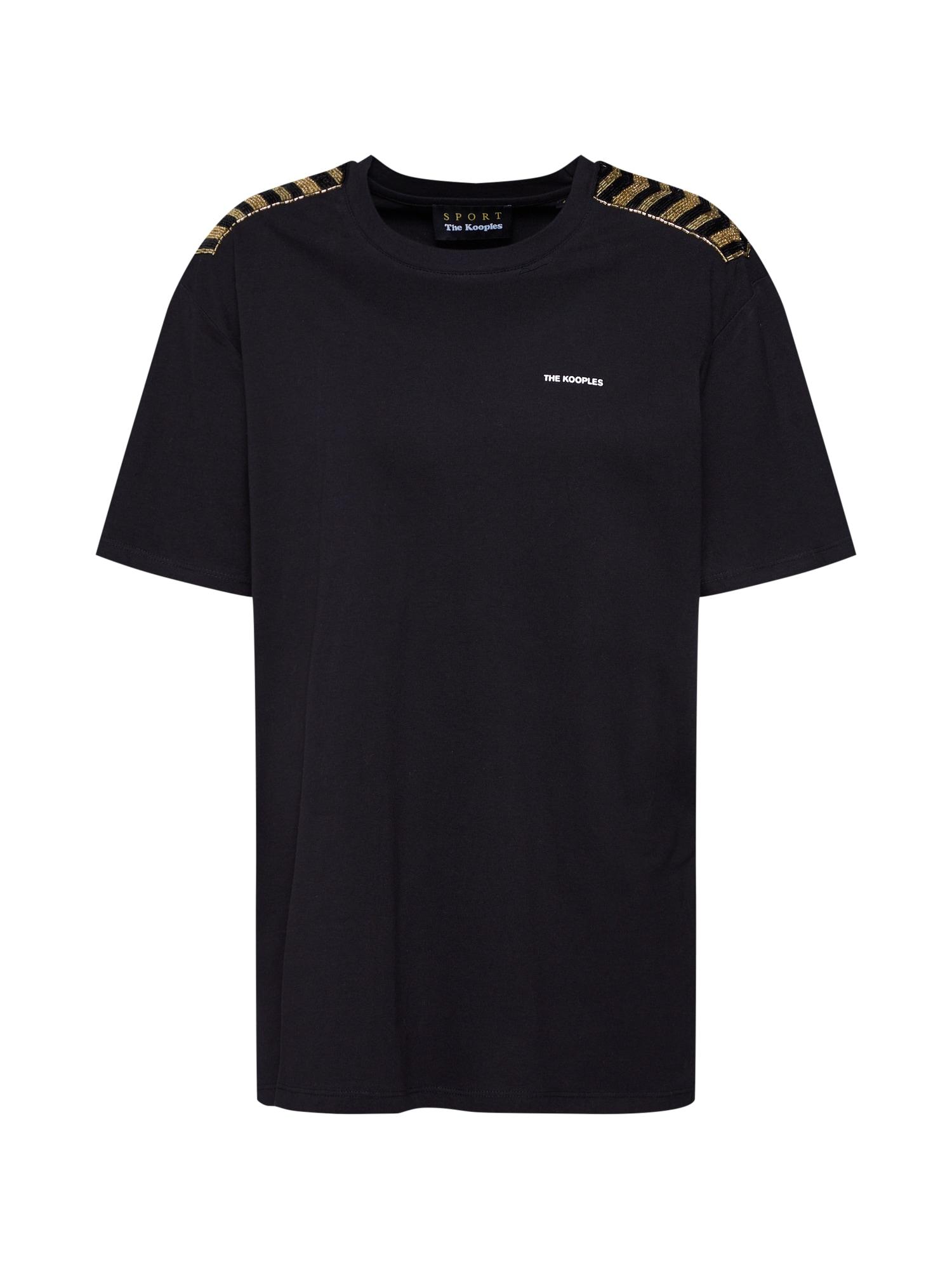 Tričko FTSC18014S černá THE KOOPLES SPORT