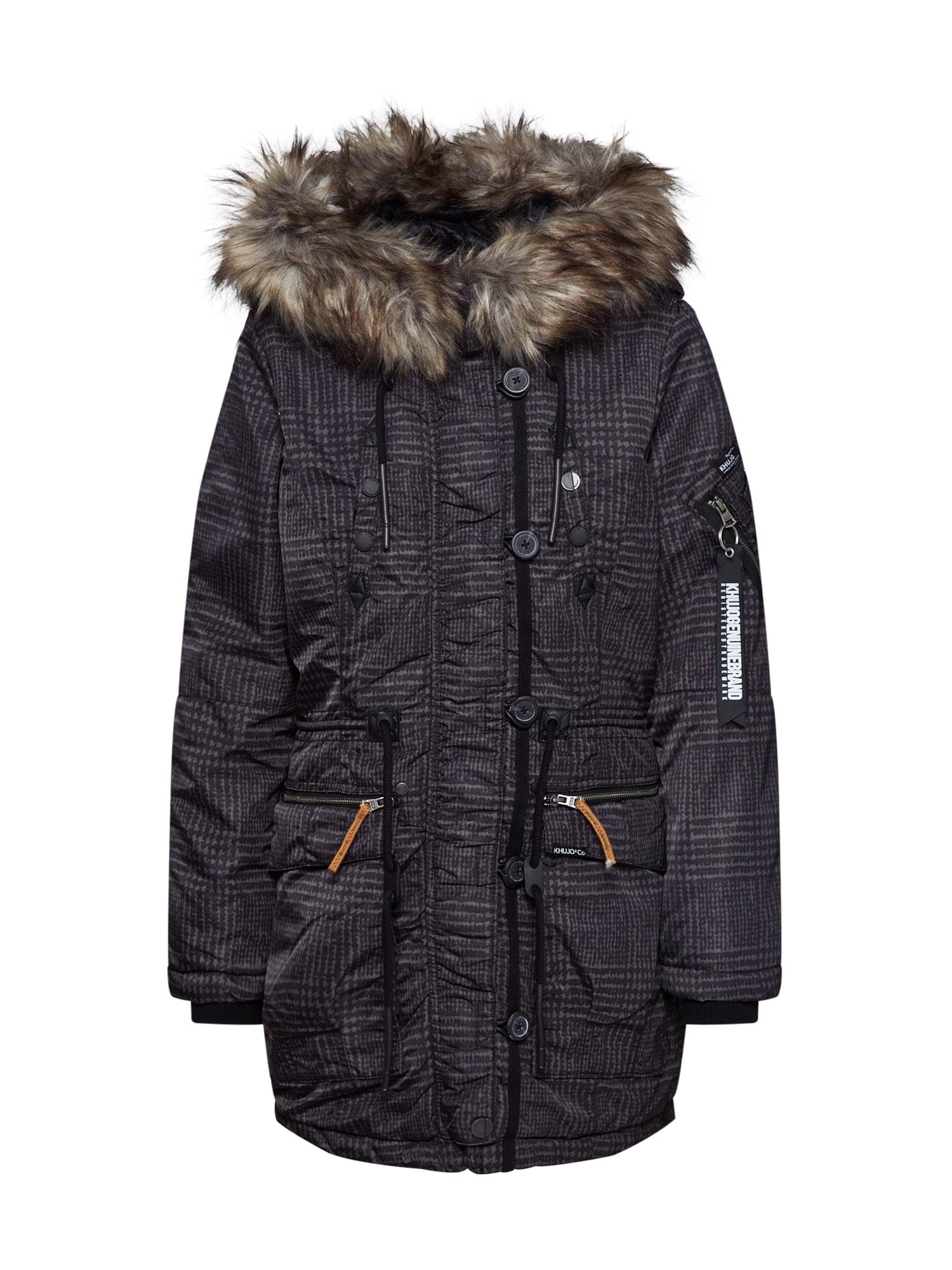khujo Ilga žieminė striukė 'LORENE' mišrios spalvos / juoda