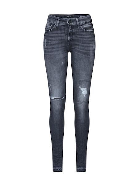 Hosen für Frauen - Jeans 'LUZ HIGH WAIST Pants' › Replay › grey denim  - Onlineshop ABOUT YOU