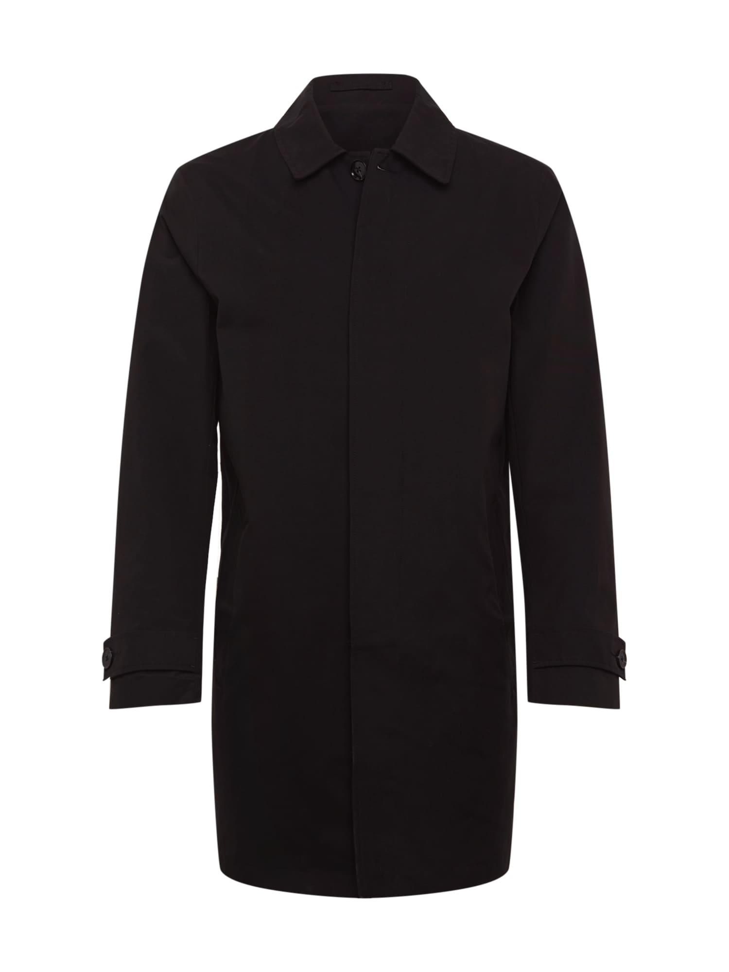 BURTON MENSWEAR LONDON Palton de primăvară-toamnă 'BLACK CORE MAC INET'  negru