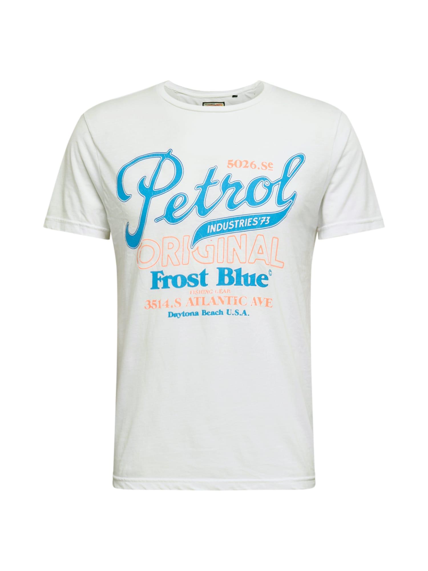 Petrol Industries Tričko  svetlomodrá / svetloružová / biela