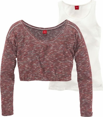 S.Oliver Junior Pullover mit Longtop