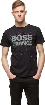 BOSS ORANGE T-Shirt mit Front-Print 'Turbulence 1'