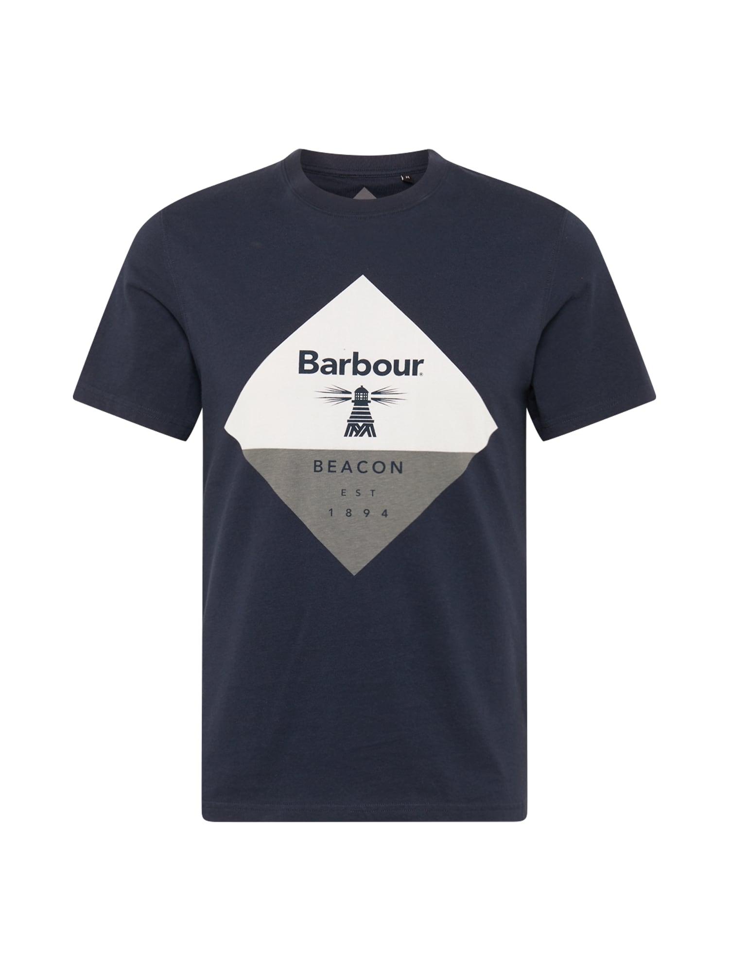 Barbour Beacon Marškinėliai tamsiai mėlyna / balta / margai pilka