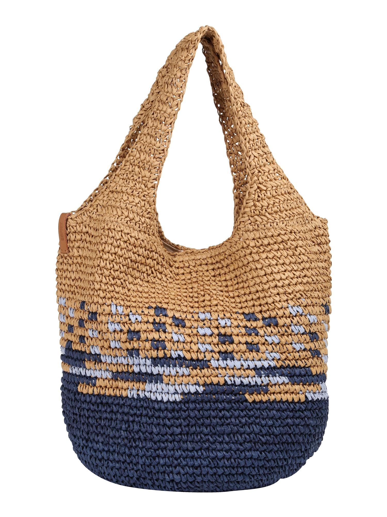 Plážová taška Ruth béžová modrá ESPRIT