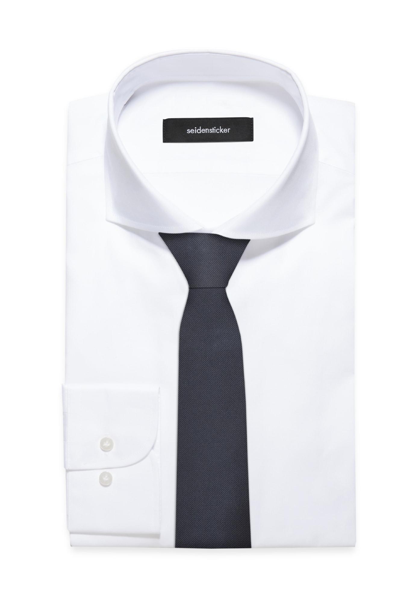 SEIDENSTICKER Cravate ' Schwarze Rose '  bleu marine