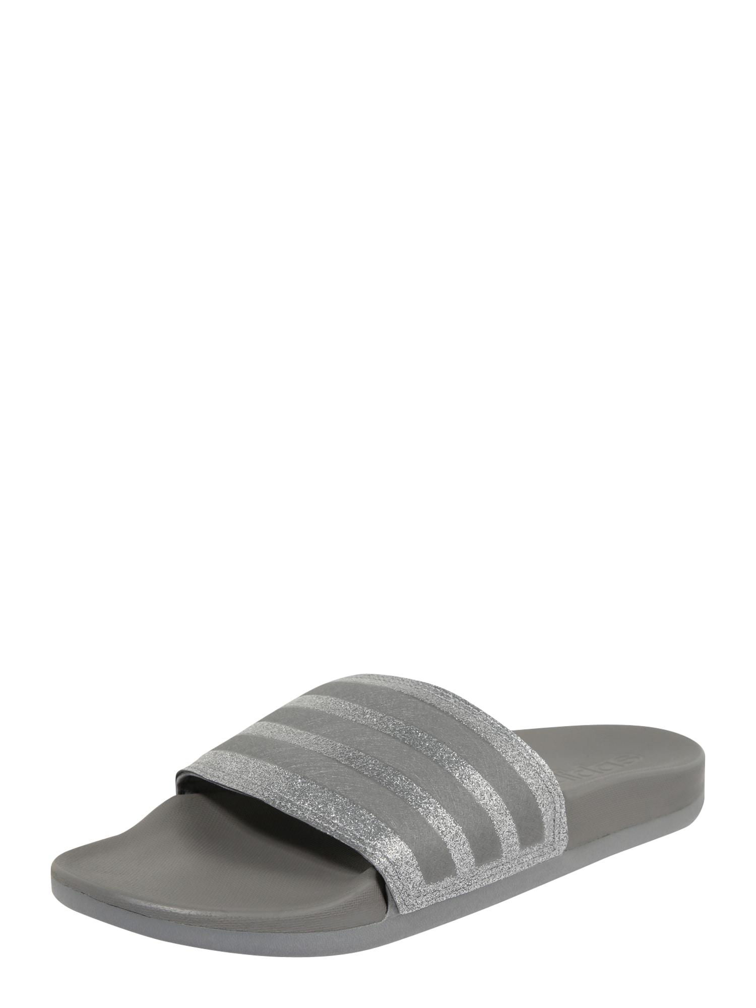 ADIDAS PERFORMANCE Sandalai / maudymosi batai 'Adilette Comfort' sidabras