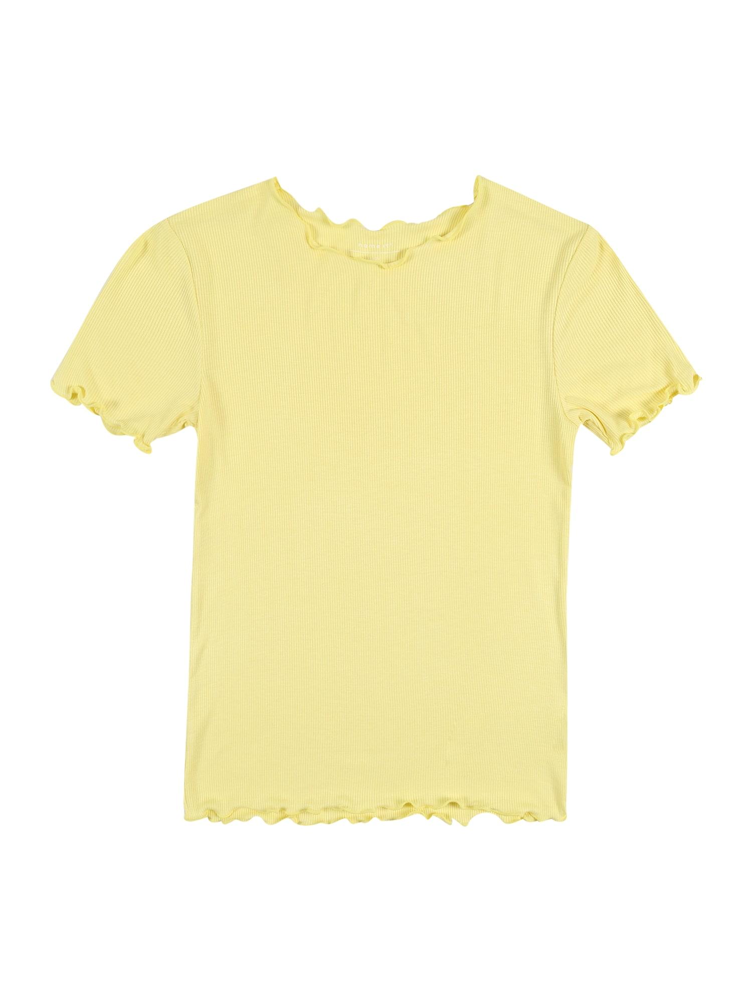 NAME IT Marškinėliai 'Elisa' geltona