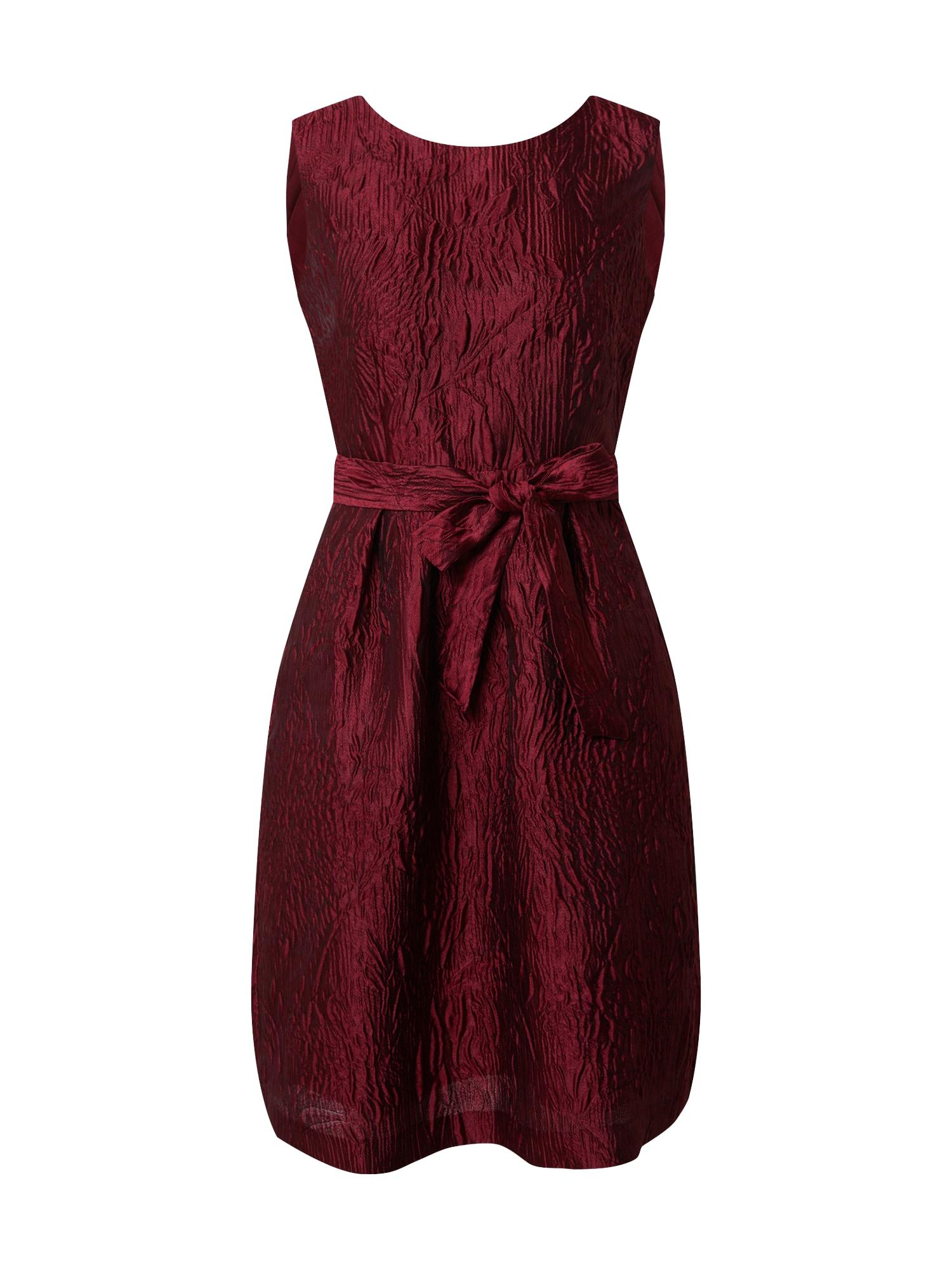APART Kokteilinė suknelė vyšninė spalva