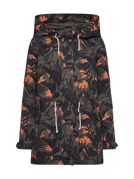 Jacken für Frauen - Jacke 'onlNEW DEMI AOP CANVAS PARKA NT OTW' › ONLY › grün orange  - Onlineshop ABOUT YOU