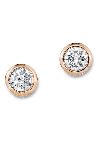 Ohrringe für Frauen - S.Oliver RED LABEL Paar Ohrstecker, »SO1062 1« rosegold weiß  - Onlineshop ABOUT YOU
