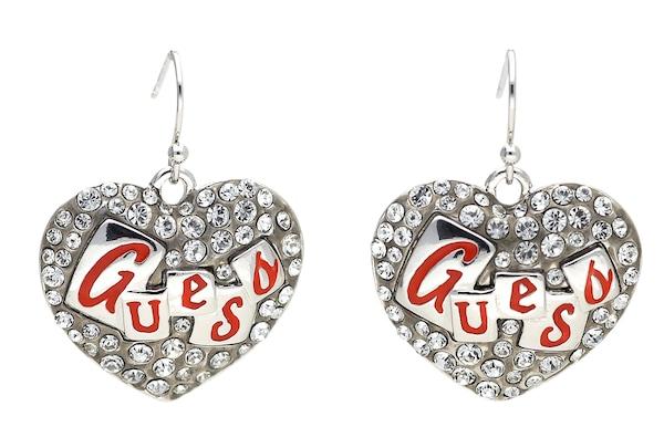 Ohrringe für Frauen - GUESS Ohrringe 'UBE71211' feuerrot silber transparent  - Onlineshop ABOUT YOU