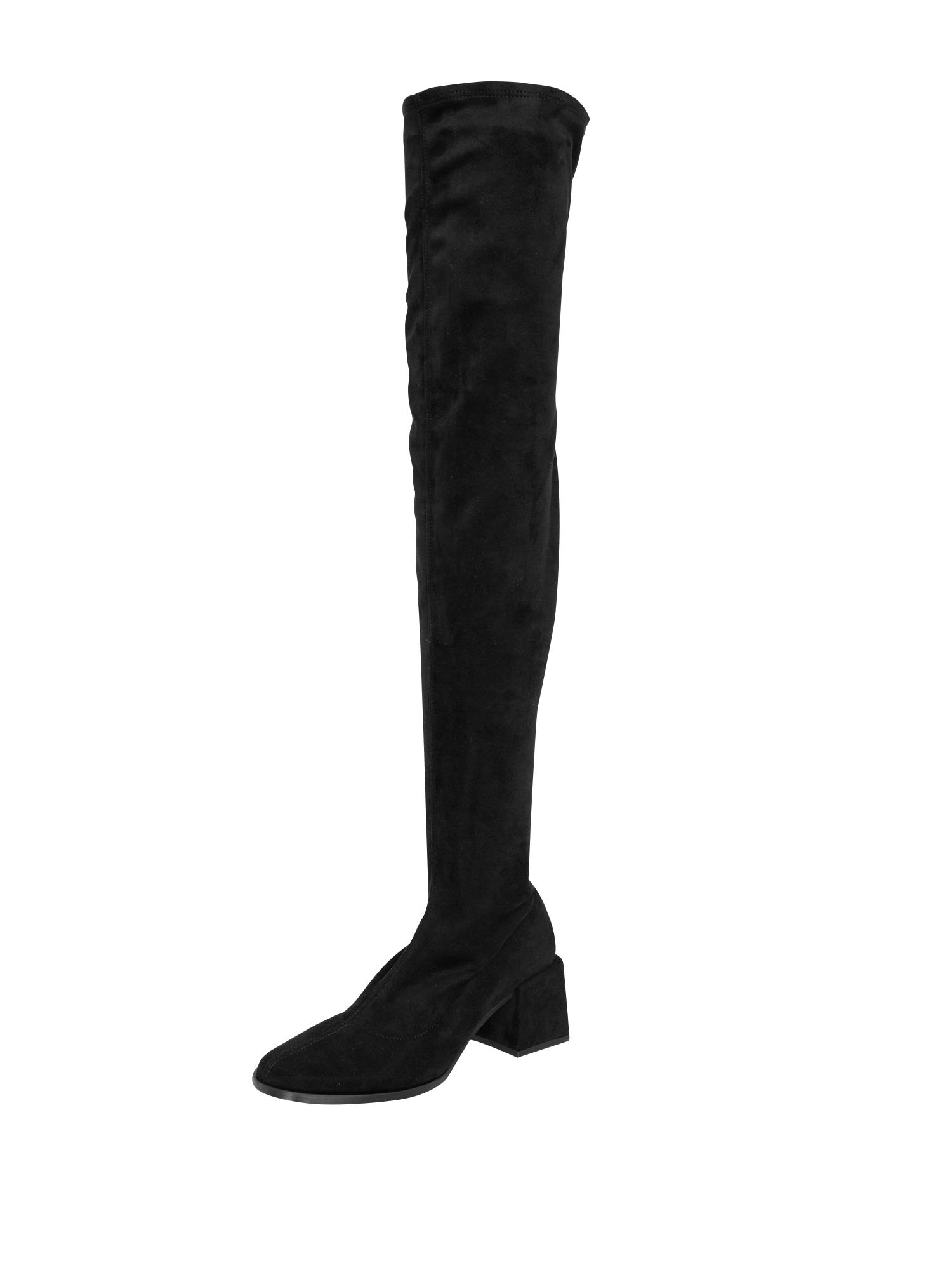 EDITED Ilgaauliai batai virš kelių 'Brea' juoda