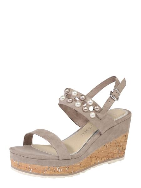 Sandalen für Frauen - MARCO TOZZI Sandalen hellbraun taupe  - Onlineshop ABOUT YOU