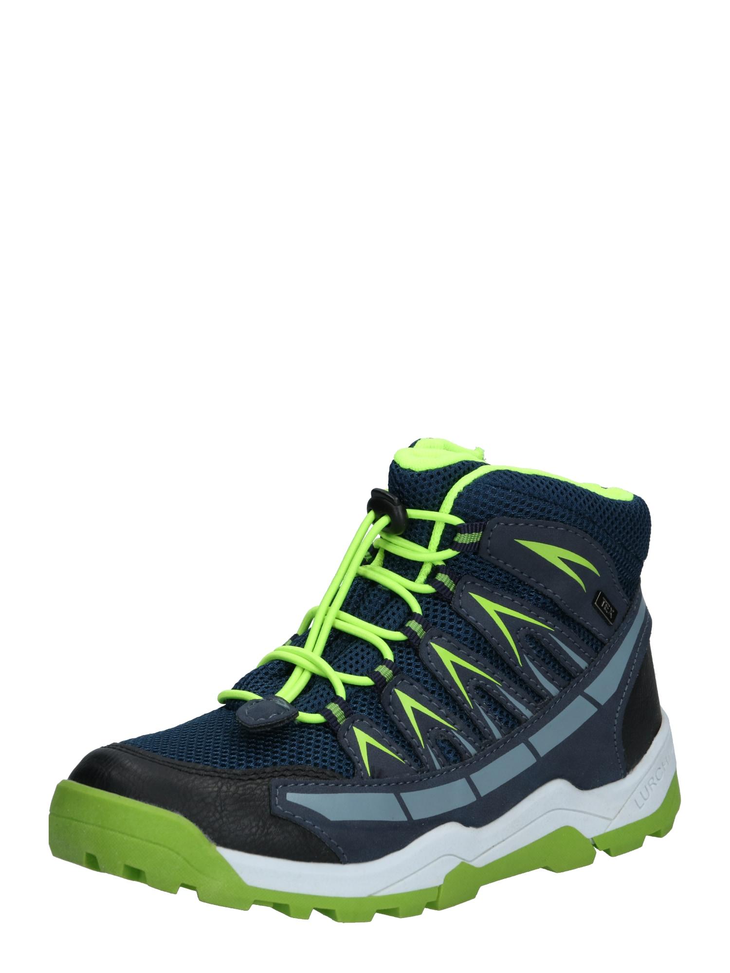 LURCHI Auliniai batai su kulniuku 'TRISTAN-TEX' žalia / tamsiai mėlyna