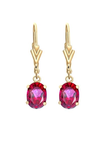 Ohrringe für Frauen - ELLI PREMIUM Ohrringe gold weinrot  - Onlineshop ABOUT YOU