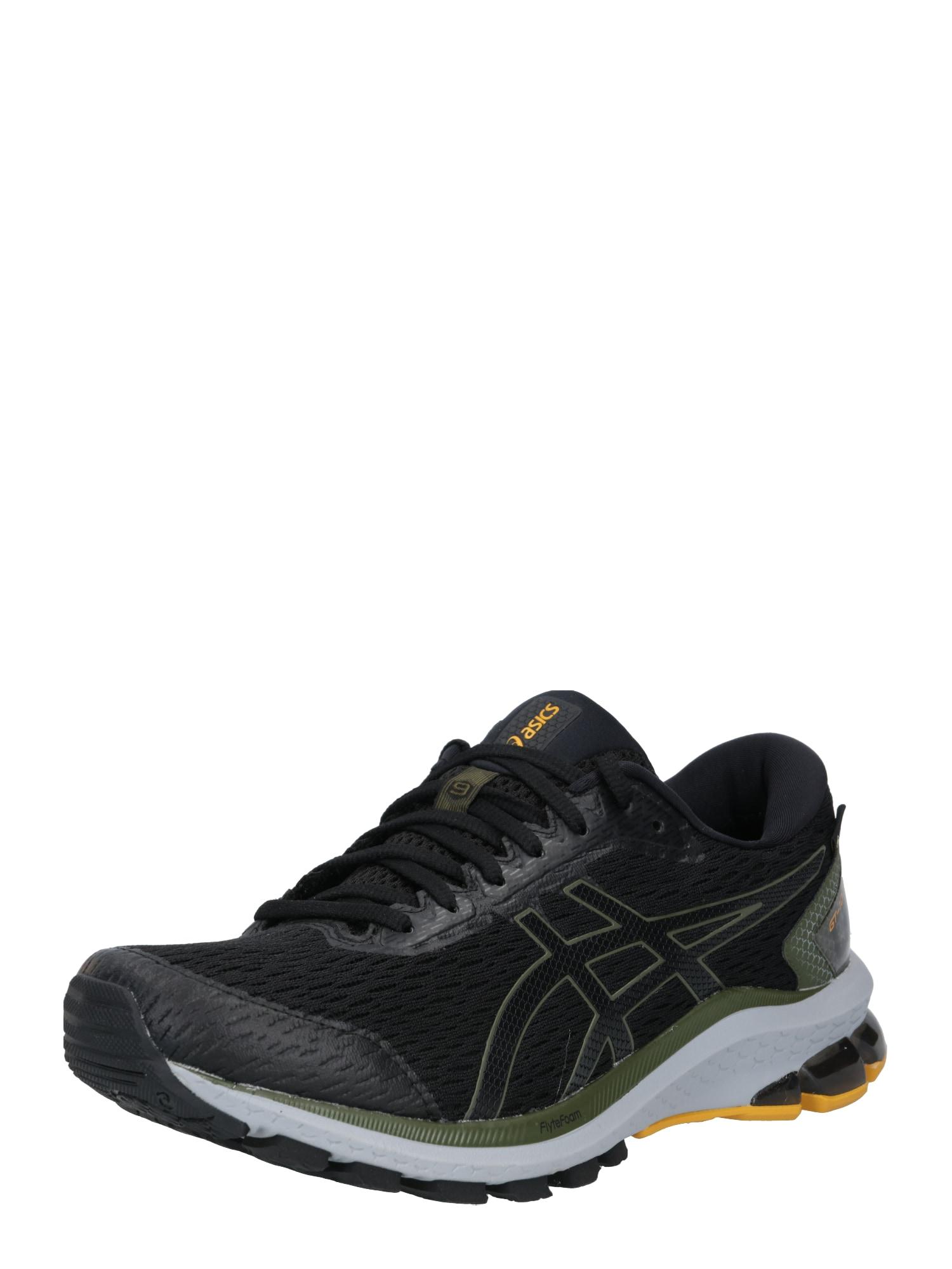 ASICS Bėgimo batai juoda / alyvuogių spalva