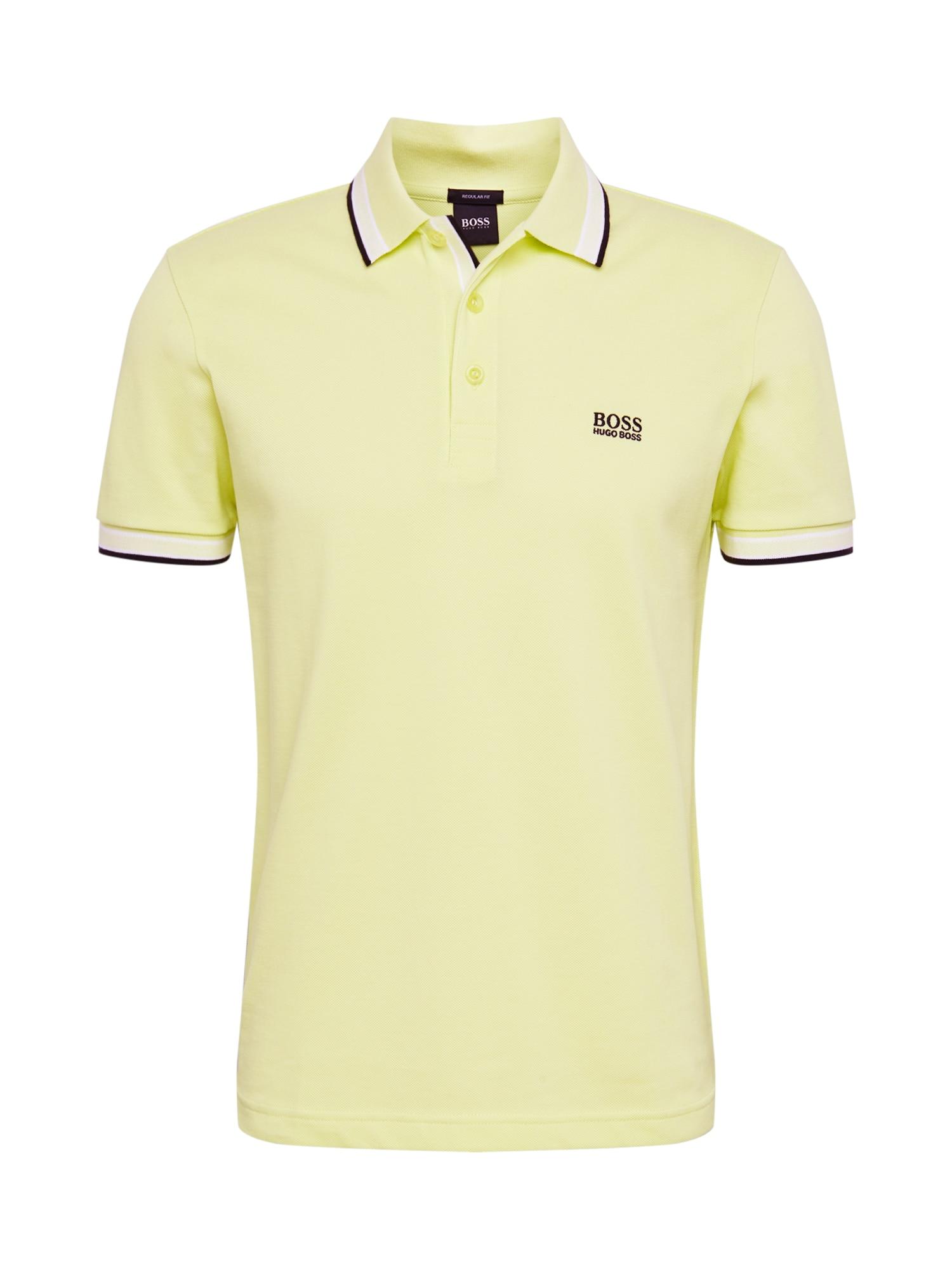 BOSS ATHLEISURE Marškinėliai 'Paddy' geltonosios citrinos spalva