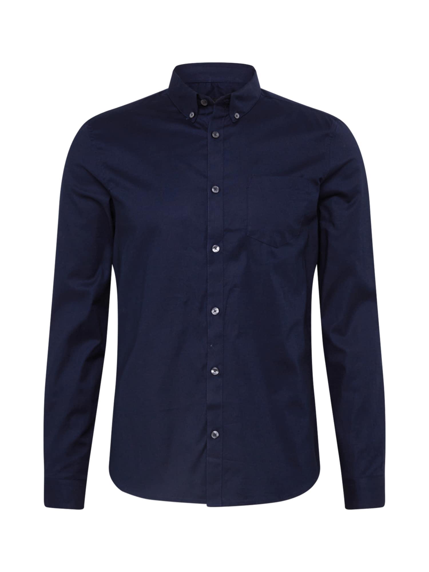BURTON MENSWEAR LONDON Dalykinio stiliaus marškiniai tamsiai mėlyna