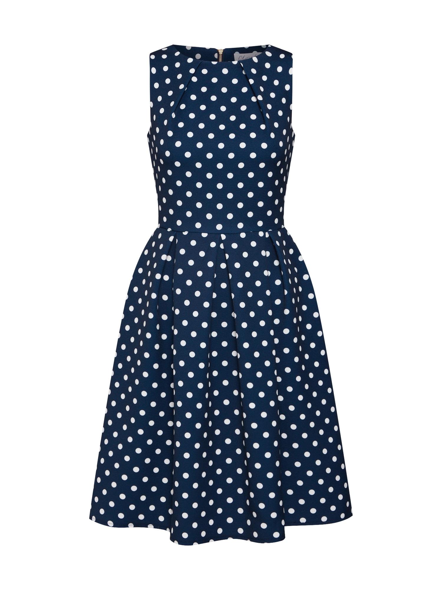 Koktejlové šaty námořnická modř bílá Closet London