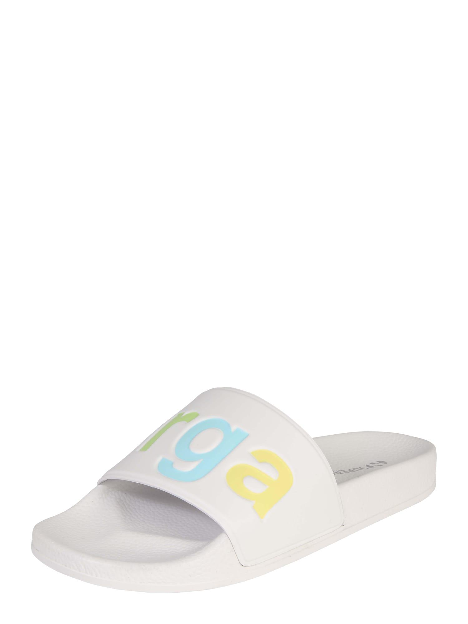 Pantofle mix barev bílá SUPERGA