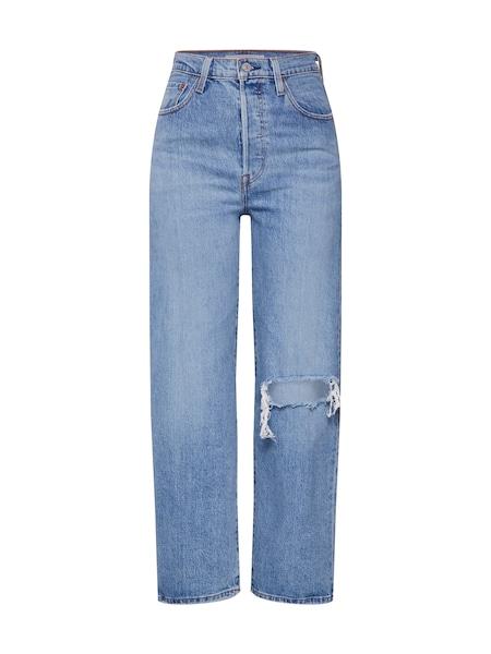 Hosen für Frauen - LEVI'S Jeans 'RIBCAGE' blue denim  - Onlineshop ABOUT YOU