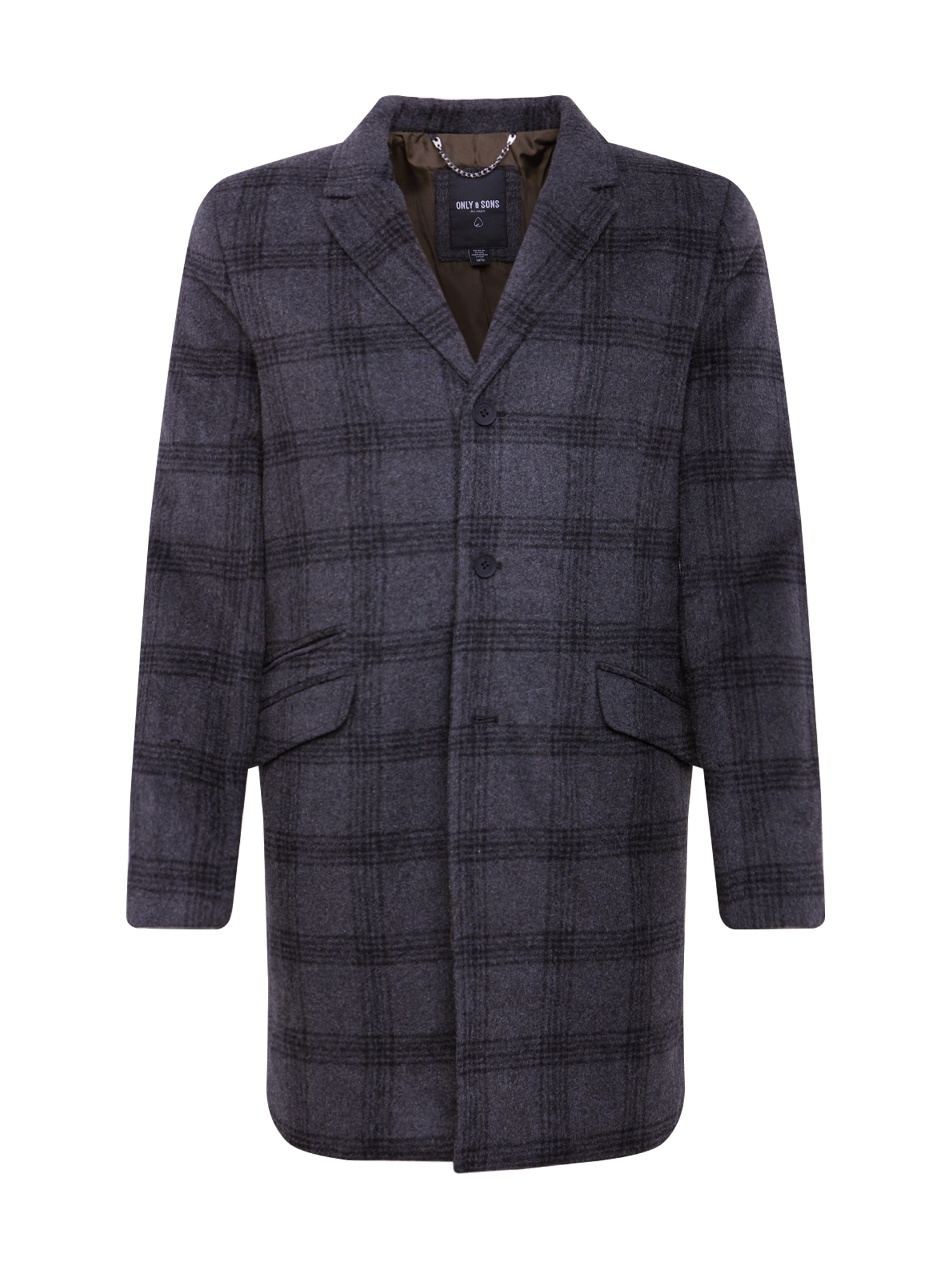 Only & Sons Rudeninis-žieminis paltas 'JULIAN' tamsiai pilka