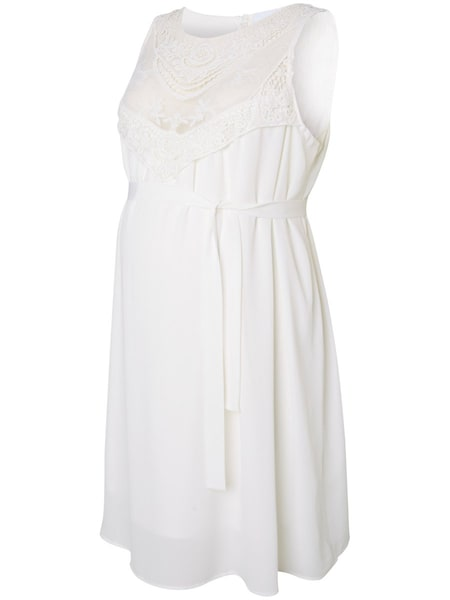Schwangerschaftsmode für Frauen - MAMALICIOUS Kleid weiß  - Onlineshop ABOUT YOU