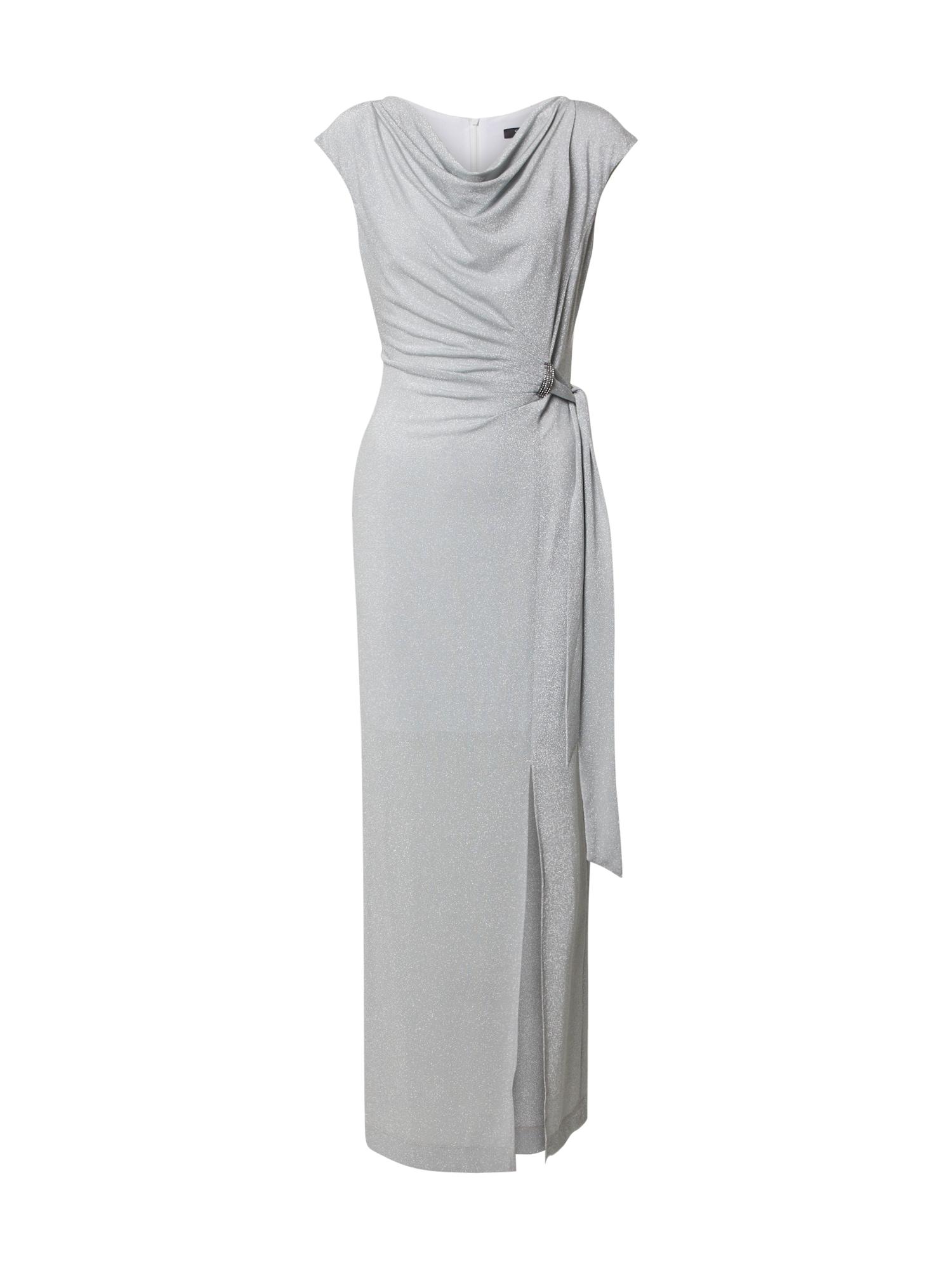 SWING Vakarinė suknelė sidabro pilka