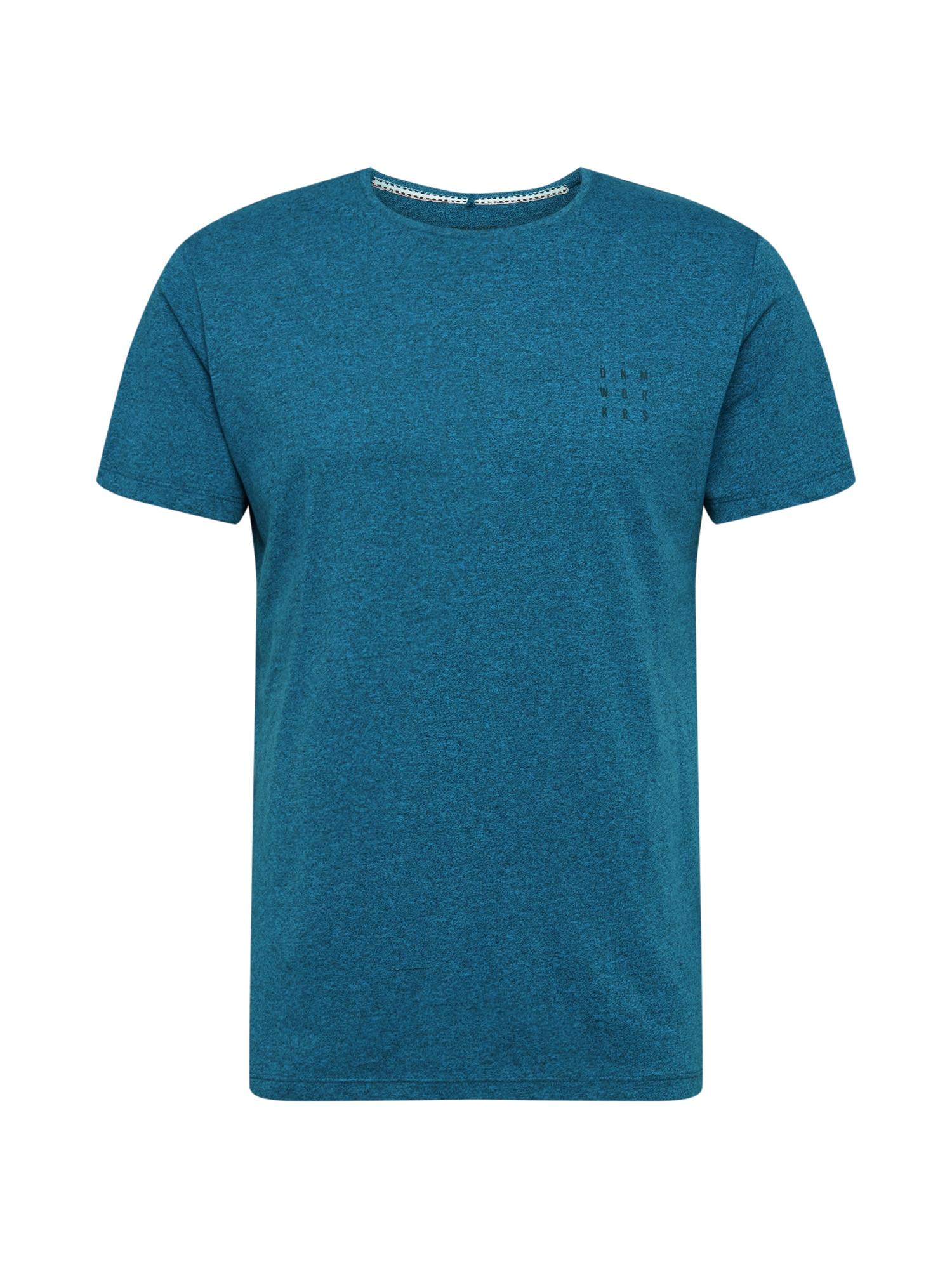BLEND Marškinėliai benzino spalva