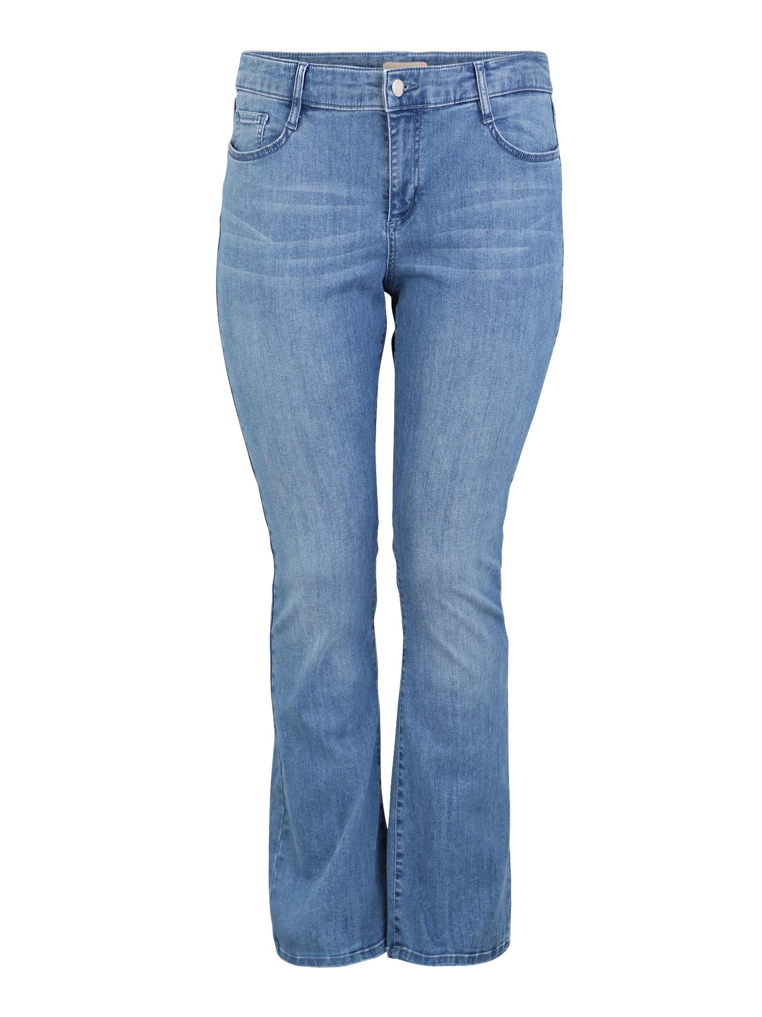 Džíny CURVY FIT modrá džínovina TRIANGLE