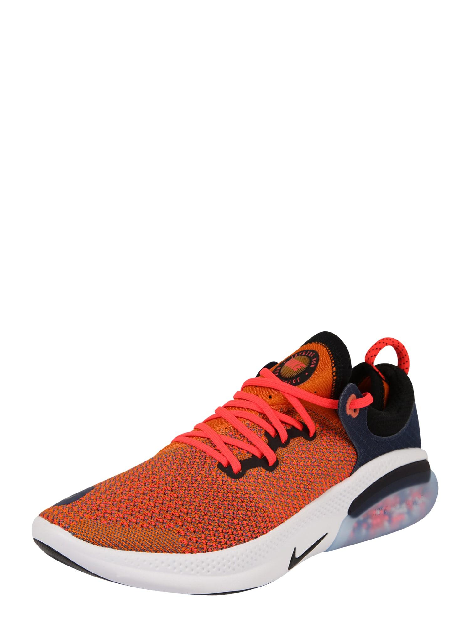 NIKE Bėgimo batai 'Joyride Run Flyknit' juoda / tamsiai mėlyna / oranžinė