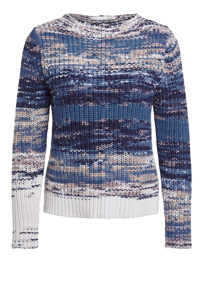 Oberteile für Frauen - OUI Pullover blau weiß  - Onlineshop ABOUT YOU