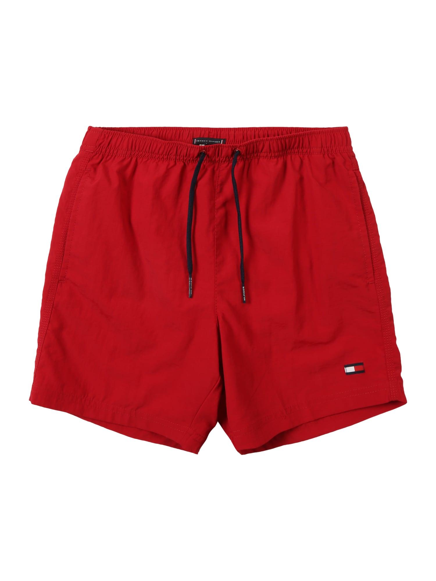 TOMMY HILFIGER Plavecké šortky  červená