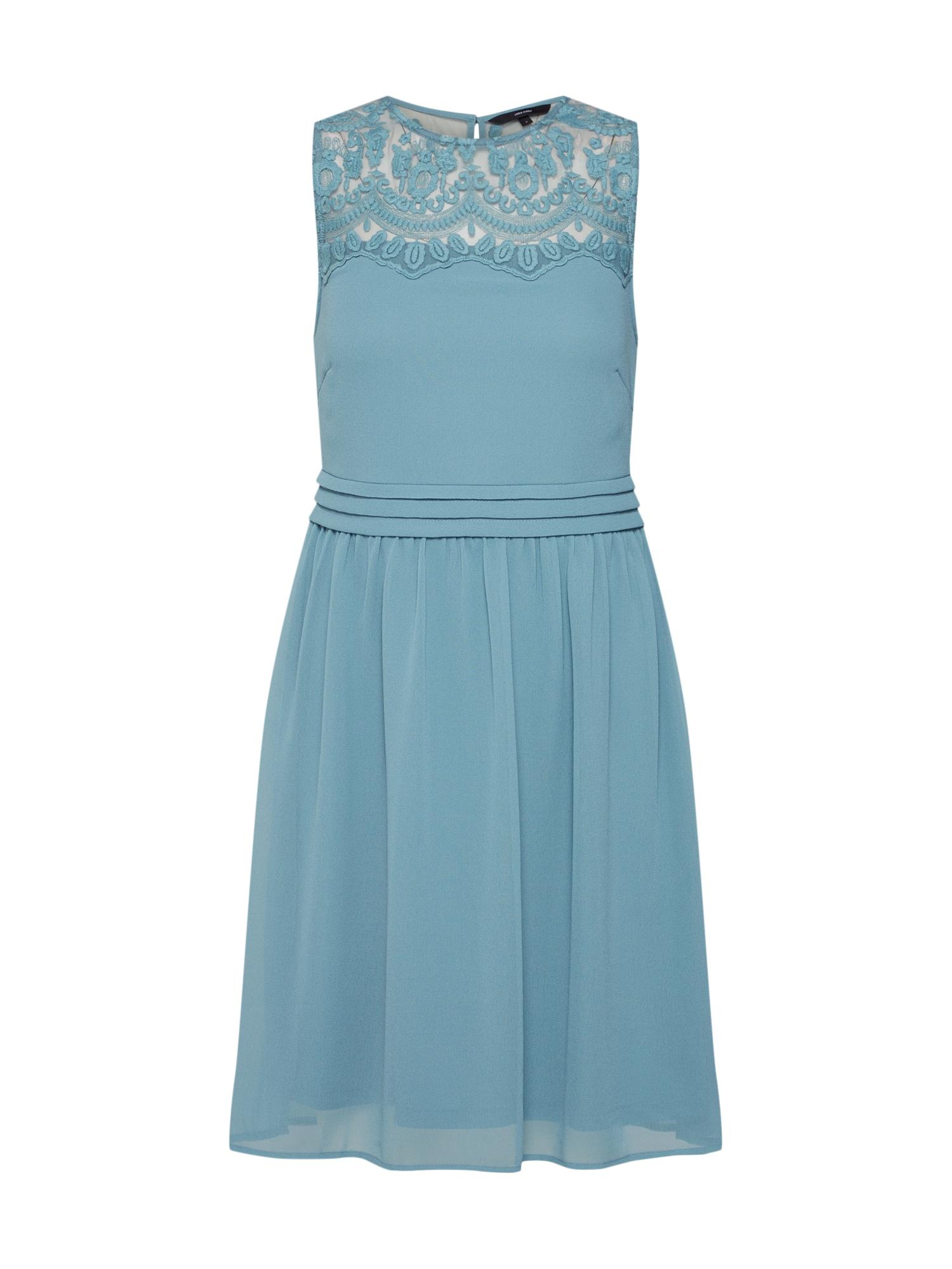 Letní šaty Vanessa kouřově modrá VERO MODA